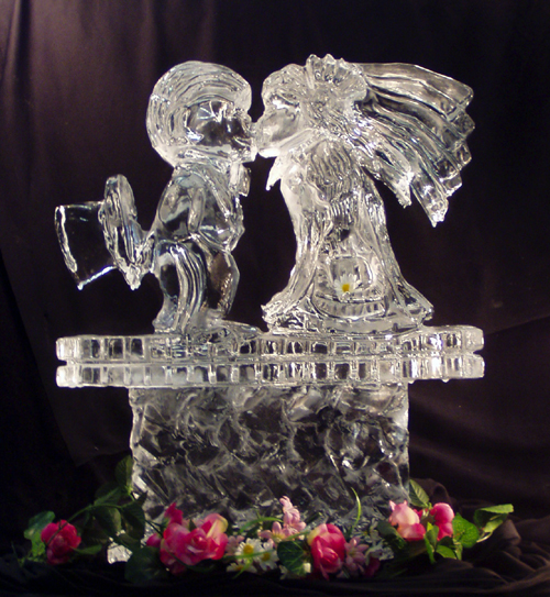 Elegant Ice Sculpture Package Sculpted Ice Works
